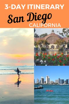 Guide and tips of a 1 to 3 day itinerary in San Diego, California USA including suggested list of attractions and recommended restaurants from a local. #sandiego #sandiegocalifornia #sandiegoitinerary #sandiegowithkids California Vacation, Visit California, Florida Travel, Usa Travel Guide, Travel Usa, Budget Travel, Travel Guides, Travel Tips, San Diego Travel