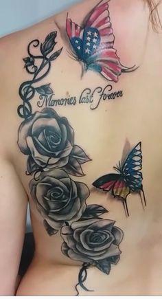 Rosé, butterfly tattoo
