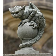 Campania International Oscar The Gargoyle Cast Stone Garden Statue