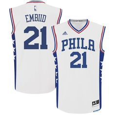 35 Youth XL Joel Embiid Philadelphia 76ers adidas Youth Replica Player  Jersey - White 496eb00c9