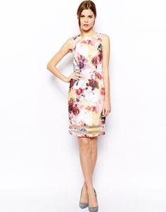 Floral dress sheer panels. Perfect for wedding season!