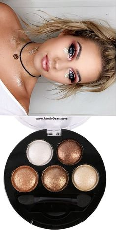 Pro-Portable Highly Pigmented Glitter Eye Shadow Palette - Makeup artist looks o. - Pro-Portable Highly Pigmented Glitter Eye Shadow Palette – Makeup artist looks o… - Glitter Eyeshadow Palette, Eyeshadow Looks, Makeup Palette, Eyeshadow For Blue Eyes, Pink Eyes, Gypsy Makeup, Hippie Makeup, Concert Makeup, Rave Makeup