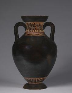 Panathenaic-shaped Amphora, 525-500 BC Greece, 6th Century BC  black-figure terracotta