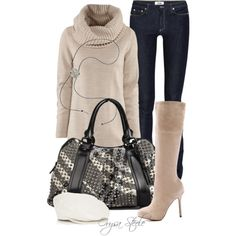 A fashion look from February 2013 featuring H&M sweaters, Acne Studios jeans and Sam Edelman boots. Browse and shop related looks.