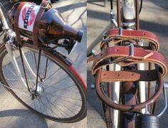 leather bike straps