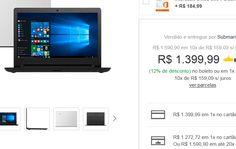 """Notebook Lenovo Ideapad 310 Intel Core i3 4GB 500GB Tela LED 14"""" Windows 10 << R$ 139999 >>"""