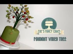 ▶ How to make a fondant wired tree cake decorating - YouTube