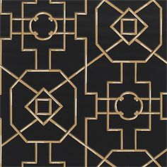 Thibaut Spring Lake Bamboo Lattice in Black. Totally using this in a powder room.