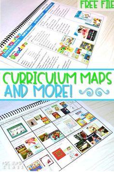 curriculum map for kindergarten and first grade