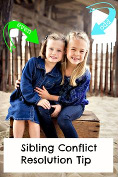 Easy sibling conflict resolution tip