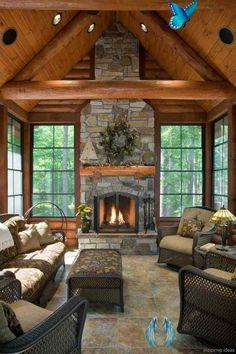 En Popüler 14 Ev Dekorasyonu Akımı — Dekorasyon Önerileri & Trendler, Kendin Yap Fikirleri | Armut.com Blog En Popüler 14 Ev Dekorasyonu Akımı — Dekorasyon Önerileri & Trendler, Kendin Yap Fikirleri | Armut Blog<br> Modern, endüstriyel, bohem... liste uzayıp gidiyor. Gelin en çok tercih edilen 14 dekorasyon akımını birlikte inceleyelim. Home Fireplace, Fireplace Design, Fireplace Ideas, Rustic Fireplaces, Stone Fireplaces, Log Home Interiors, Rustic Home Design, Cabin Interior Design, Rustic Homes
