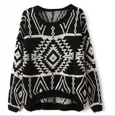 Vobaga Women's Long Sleeve Geometric Pullovers Sweater Black - One size fits all Ninimour http://www.amazon.com/dp/B00ETPDCPC/ref=cm_sw_r_pi_dp_mgduub1FN2BNV