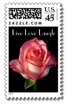 Pink Rose Live Love Laugh Postage Stamps  ..  http://www.zazzle.com/love_live_laugh_pink_rose_floral_postage_stamps-172319124417763391?gl=merrybrides=238669615131463341