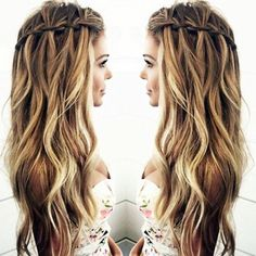 Hairstyles For Fat Faces - The Waterfall Twist