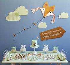 LETTUCE & CO - STYLE. EAT. PLAY run, run, as fast as you can gingerbread man themed children's birthday party. mint green, sky blue and orange colour scheme. concept design and styling by us. custom themed dessert and lolly table. stationery, backdrop, bow cupcakes, fox cookies, oreos, milk bottles.