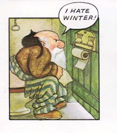 Love Santa on the loo. Father Christmas by Raymond Briggs