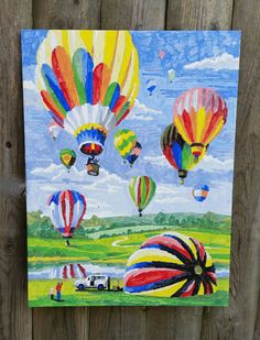 Hot air Balloons Painting Unframed Hot Air Balloon by Shadow91