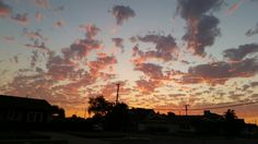Walking from Grandma's back to dad's . Beautiful pink sunset clouds TUESDAY SEPTEMBER 8,  2015 ♡
