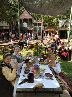 Minnesota Renaissance Festival Princess Court enjoying lunch