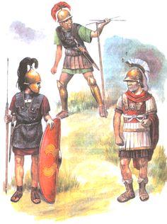 """Roman soldiers, 1st century BC"""