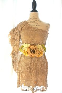 One shoulder lace dress gypsy cowgirl tea by TrueRebelClothing, $72.00