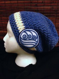 Avatar Last Airbender Slouch Beanie Water Tribe by StitchedbyXtaL The Last Airbender Cartoon, Water Tribe, Stylish Hats, Slouch Beanie, Geek Fashion, Legend Of Korra, Avatar The Last Airbender, Disneybound, Hobbies And Crafts