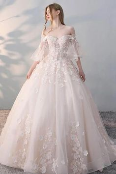 appliques bridal dress o-neck wedding dress appliques wedding dress long tulle wedding dress, Shop plus-sized prom dresses for curvy figures and plus-size party dresses. Ball gowns for prom in plus sizes and short plus-sized prom dresses for Long Wedding Dresses, Princess Wedding Dresses, Bridal Dresses, Wedding Gowns, Fantasy Wedding Dresses, Princess Ball Gowns, Modest Wedding, Prom Gowns, Wedding Bridesmaids