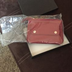 Porsche lady's purse / Waller Burgundy red lady's small wallet / purse new Porsche Porsche Accessories