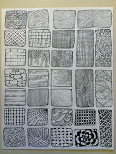 visual texture idea sheet
