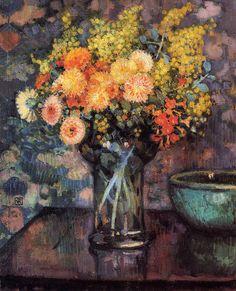Vase of Flowers ,by Theo van Rysselberghe
