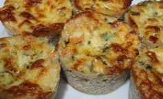 Tortinha de camarao com queijo - Receita Dukan