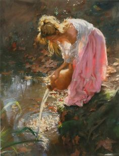 Vicente Romero Redondo, love the whole setting and love the light is playing behind her
