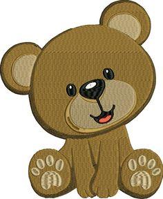 Cute Teddy Bear Machine Embroidery File Design by LuminariaDesigns