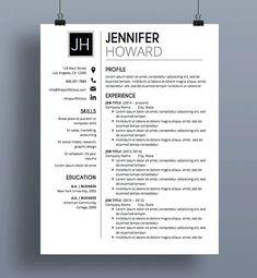 Cv template Resume Template CV Template Cover Letter Modern Resume Designs Mac or PC Fully Customizable Beachwood Modern Resume Template, Resume Template Free, Creative Resume Templates, Format Cv, Resume Format, Job Resume, Resume Tips, College Resume, Resume Ideas