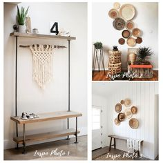 Thrift this Look: Boho Basket Wall Decor - Audrey Would! Boho Dekor, Basket Decoration, Baskets On Wall, Furniture Styles, Quilt Top, Bohemian Decor, Thrifting, Entryway Tables, Wall Decor