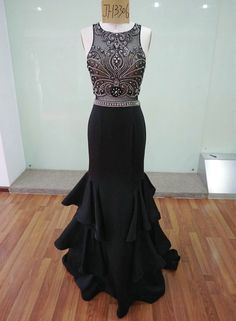 Model NO. 3306: Black Elegant evening dress High quality special occasion dress. Custom color is available.