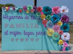 Mural de la familia Reunion Decorations, Birthday Decorations, Mothers Day Crafts, Happy Mothers Day, Diy Flowers, Paper Flowers, Baby Ballet, Apple Theme, Special Kids