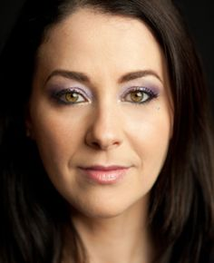 Lavender and Gold makeup with a sparkling touch