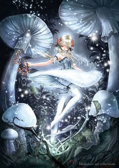 Moonlight garden fairy princess by manga artist Shiitake.