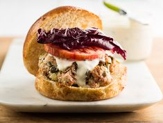 Fresh Salmon Burgers with Tarragon Mayonnaise Recipe  | Epicurious.com