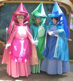 Image may contain: 3 people, people smiling, people standing - Halloween İdeas Sleeping Beauty Costume, Sleeping Beauty Party, Sleeping Beauty Fairies, Disney Sleeping Beauty, Sleeping Beauty Characters, Disney Cosplay, Fantasia Disney, Costumes For Three People, Disney Group Costumes