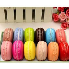 Hot Sale Kawaii Soft Dessert Macaron Squishy Cute Cell phone Charms Key Straps