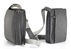 A carrying bag that expands when filled, and neatly slims down when empty. By Benjamin Hubert.