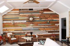 Custom Reclaimed Wood Wall Installations by RandRDesignworks Reclaimed Wood Paneling, Wood Plank Walls, Wood Planks, Wooden Walls, Salvaged Wood, Wood Flooring, Barn Wood, Shiplap Wood, Wood Home Decor