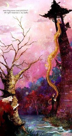 "fairytalemood: """"Rapunzel"" by Kim Yoon Hee """