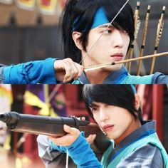 "New image of our very handsome rocksuperstar. Jung Yong Hwa as Park Dalhyang on first episode of ""The Three Musketeers """