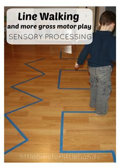 Walking Lines Rolling Balls Gross Motor Sensory Play Ideas Sensory Processing {S . - Walking Lines Rolling Balls Gross Motor Sensory Play Ideas Sensory Processing {Quick help for LRS Motor Skills Activities, Toddler Learning Activities, Gross Motor Skills, Infant Activities, Preschool Activities, Summer Activities, Family Activities, Proprioceptive Activities, Activities For 4 Year Olds