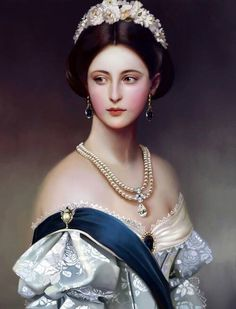 Franz Xaver Winterhalter ~ Portrait of Lady Middleton Classic Paintings, Old Paintings, Beautiful Paintings, Victorian Paintings, Victorian Art, Victorian Portraits, Victorian Ladies, Victorian Fashion, Franz Xaver Winterhalter