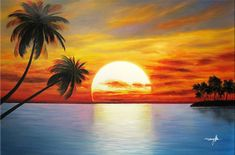 Searching for affordable Beach and Palm Tree Painting in ? Buy high quality and affordable Beach and Palm Tree Painting via sales. Enjoy exclusive discounts and free global delivery on Beach and Palm Tree Painting at AliExpress Simple Oil Painting, Oil Painting On Canvas, Canvas Art, Beach Sunset Painting, Beach Art, Sunset Beach, Purple Sunset, Cheap Paintings, Simple Paintings