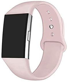 Black+Light Pink 2pc Wristband Strap Band w//Metal Buckle for Fitbit Charge 2